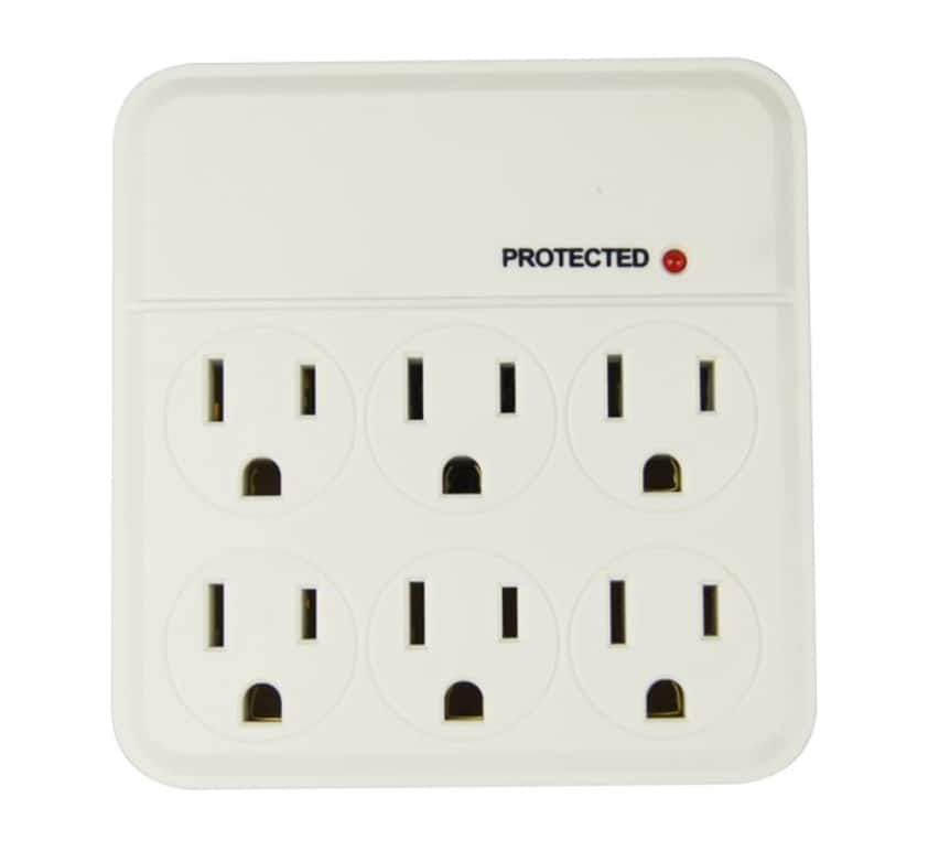 Hyper Tough 6-Outlet 1000-Joule Protection Surge Tap
