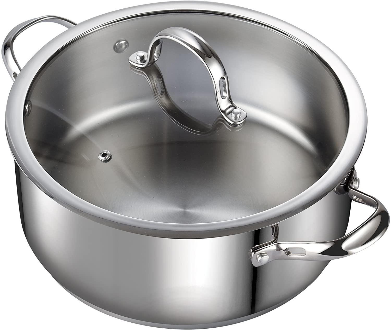 Cooks Standard 优质不锈钢煮锅/炖锅,7夸脱