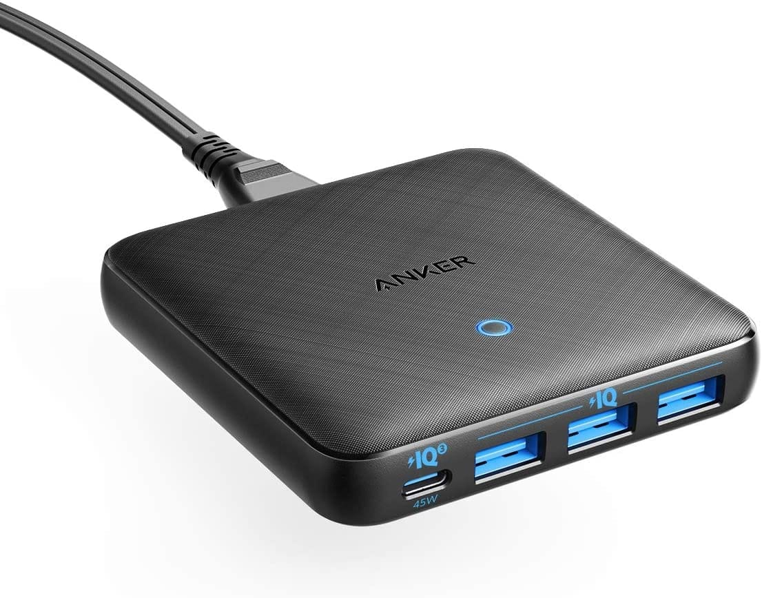Anker PowerPort Atom III 45W 4-Port USB-C & USB-A Slim Wall Charger