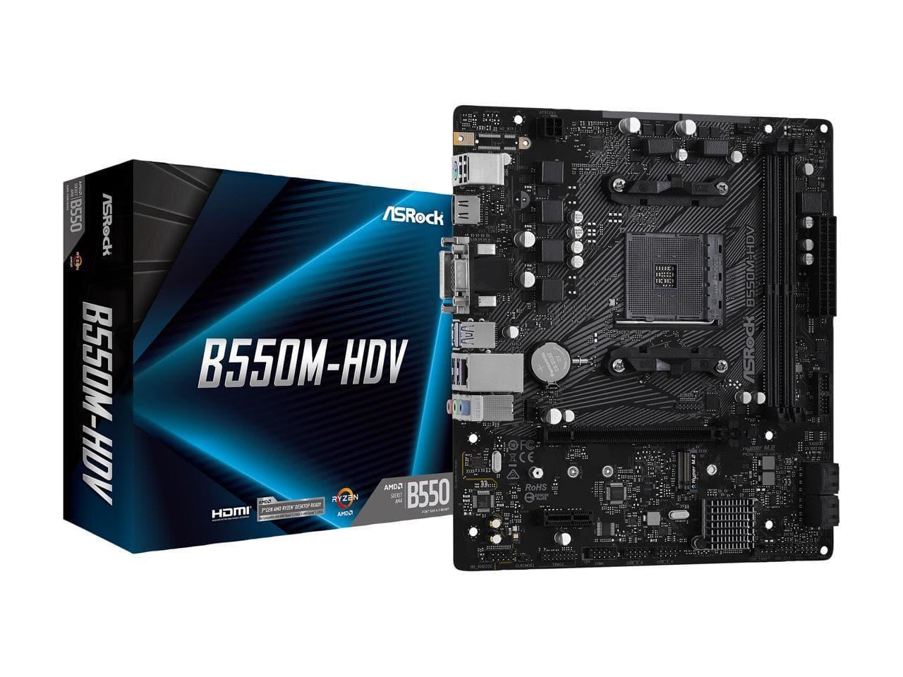 ASRock B550M-HDV AMD Micro ATX Motherboard