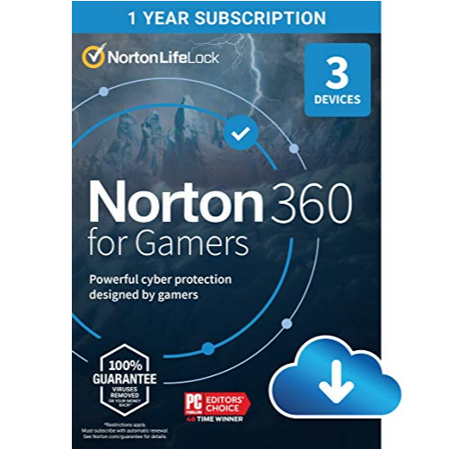 Norton 360 for Gamers – Multiple layers of protection for up to 3 Devices