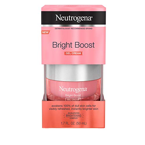 Neutrogena Bright Boost Brightening Gel Moisturizing Face Cream with Skin Resurfacing and Brightening Neoglucosamine for Smooth Skin, Facial Cream with AHA, PHA, and Mandelic Acids