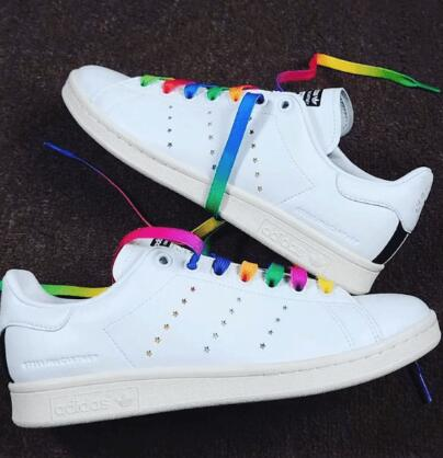Adidas 阿迪达斯Stella McCartney 限量款Stan Smith彩虹小白鞋