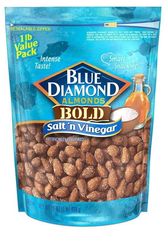 16oz Blue Diamond Almonds (Natural)