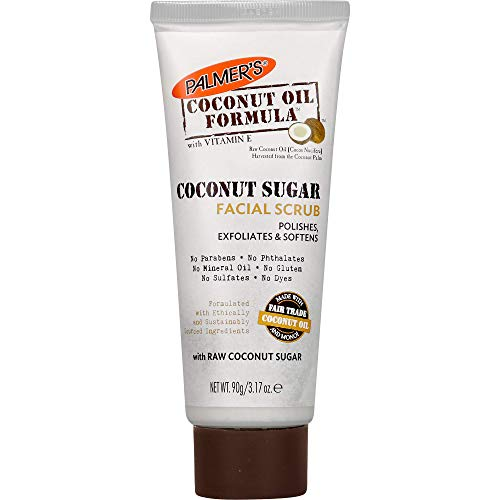 Palmer's Coconut Oil Formula Coconut Sugar Facial Scrub Exfoliator | 3.17 Ounces