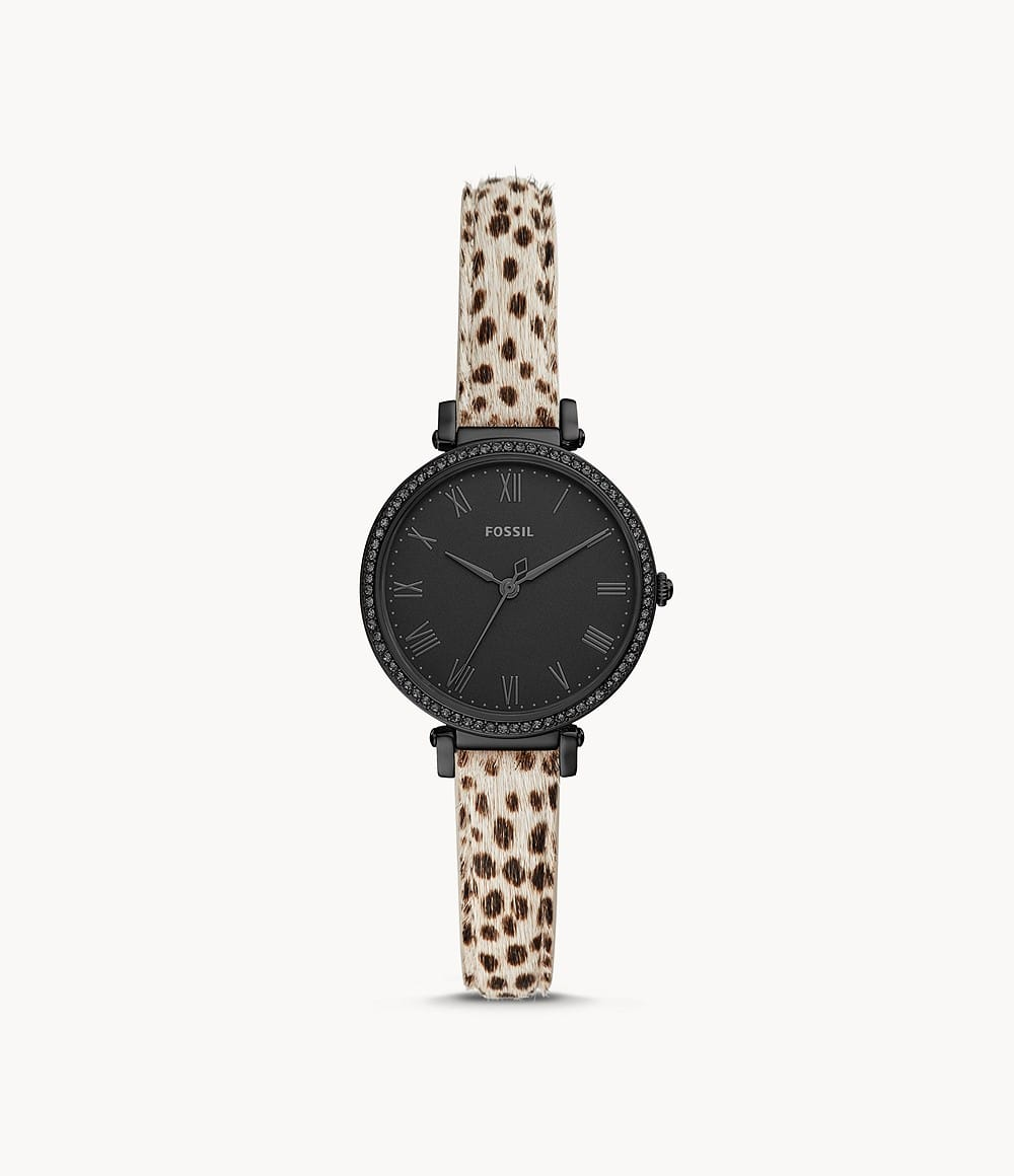 Fossil Extra 40% Off Sitewide: Women's Kinsey Faux Cheetah Hair Watch