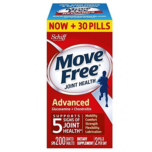好价!速抢!Move Free 三倍强效 葡萄糖胺软骨素和透明质酸,200粒大瓶装