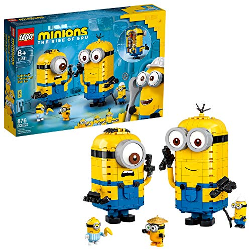 LEGO Minions: Brick-Built Minions and Their Lair (75551) Building Kit , Great  Present for Kids Who Love Minion Toys and Kevin, Bob and Stuart Minion Characters, New 2020