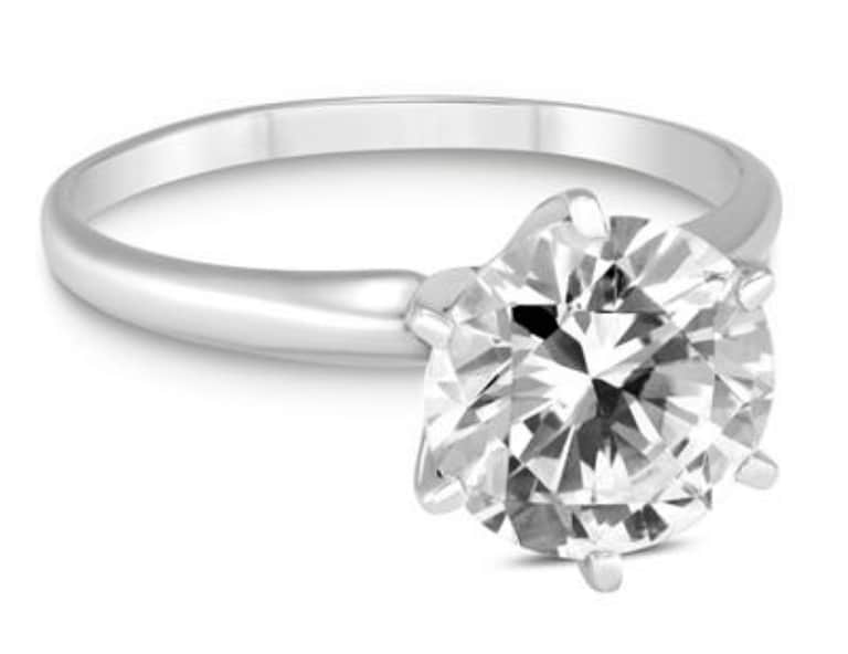 Szul 1 1/2-tcw Diamond Solitaire Ring in 14K White Gold