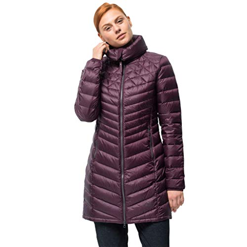 Jack Wolfskin Women's Richmond Down Puffer Long Jacket, Burgundy, Size Large
