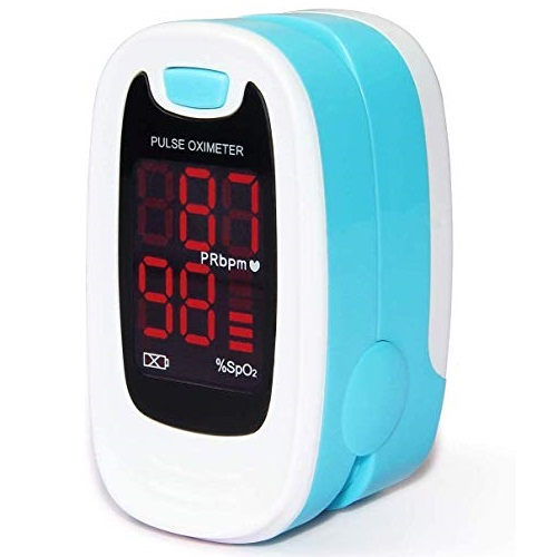 CONTEC LED CMS50M Pulse Oximeter,SpO2 and PR Value Waveform Blood Oxygen, Neck/Wrist Cord