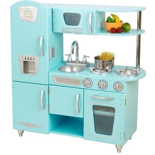 Kidkraft Vintage蓝色木制玩具厨房
