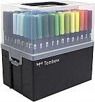 108-Piece Tombow Dual Brush Pen Set in Marker Case