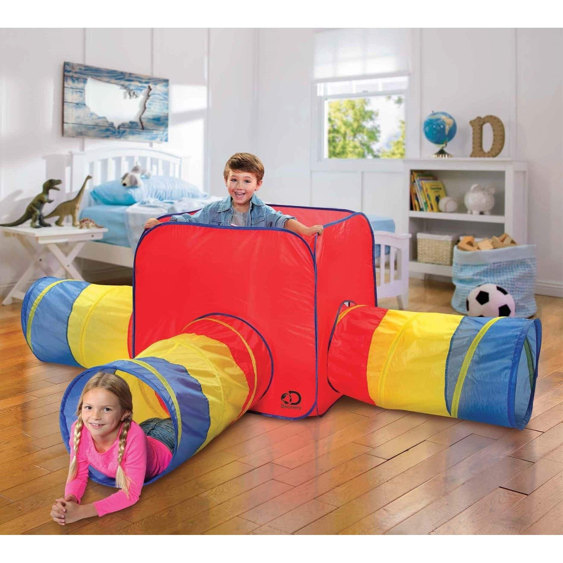 Discovery Kids Toy Tent & Tunnels 3-in-1 (Indoor/Outdoor)
