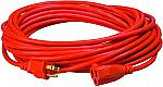 Coleman Cable Southwire 16/3 Vinyl Outdoor Extension Cord, Orange, 50-Feet