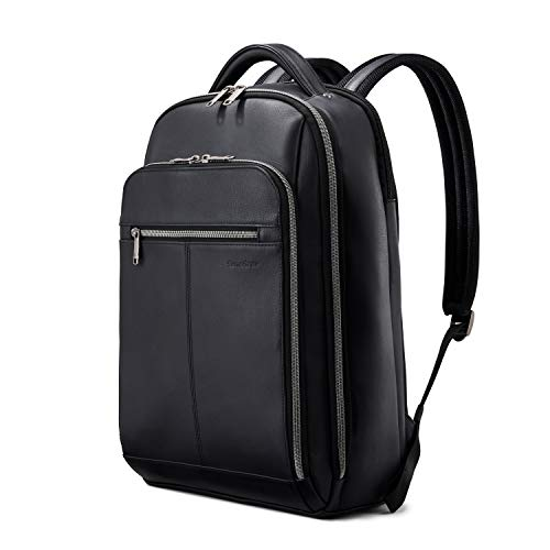 Samsonite Classic Leather Backpack, Black, One Size, List Price is