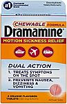 4 Tablets Dramamine Motion Sickness Relief Chewable Formula