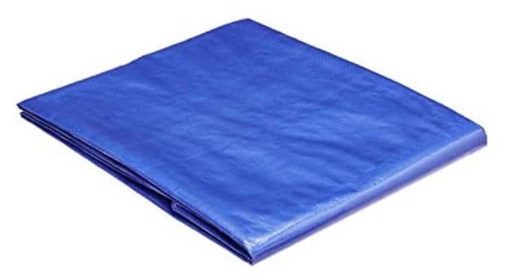 Waterproof 5-Mil Poly Tarp Cover (Blue): 4-Pk 5'x7'