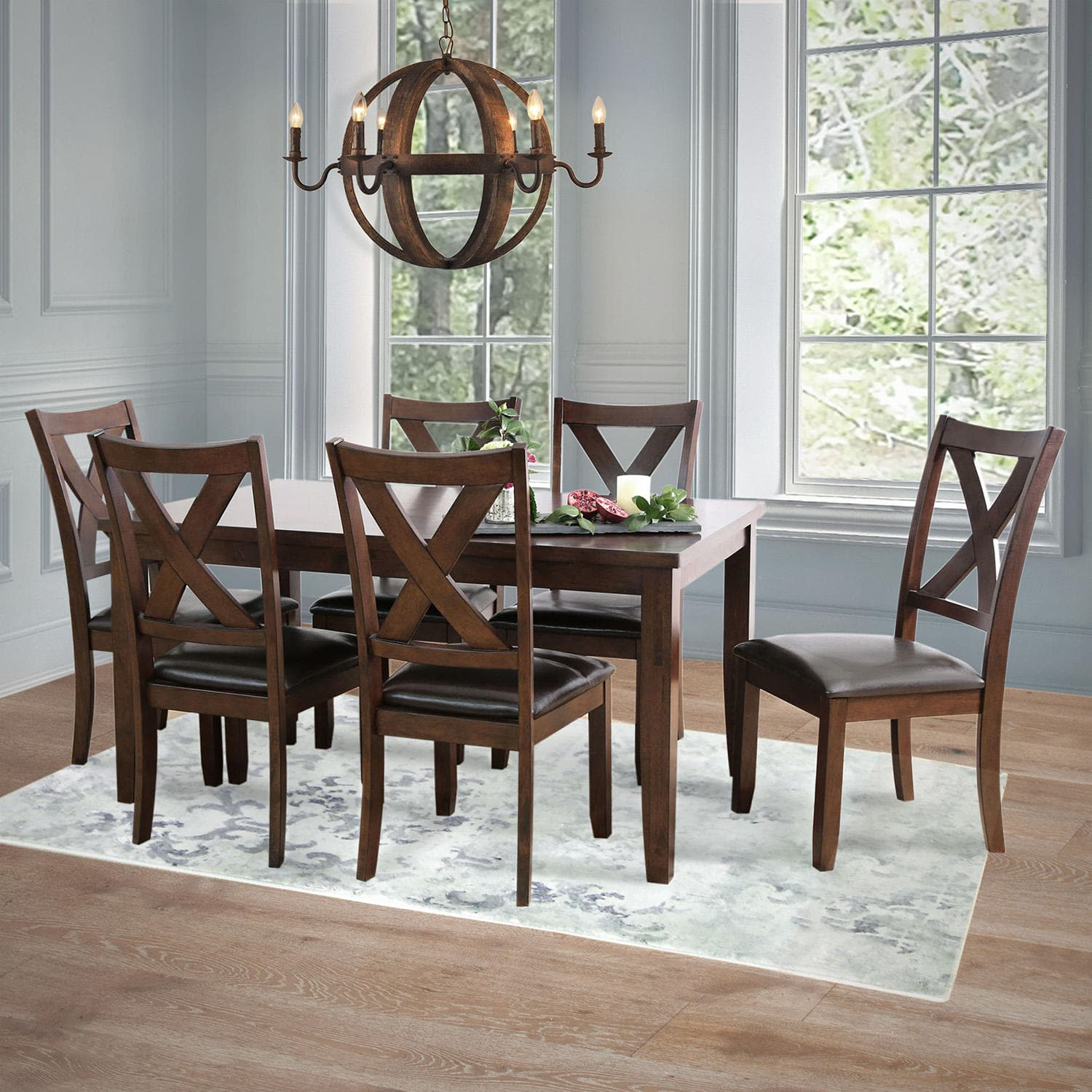 Sam's Club Members: 7-Piece Edgewater Solid Wood Dining Furniture Set (Espresso)
