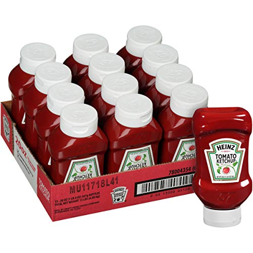 Heinz Ketchup Forever Full Inverted Bottle (20 oz, Pack of 12)