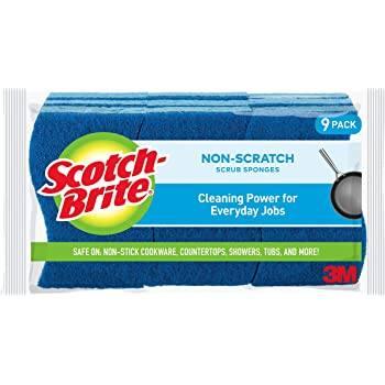 3-Count Scotch-Brite Scrub Dots Non-Scratch Scrub Sponge