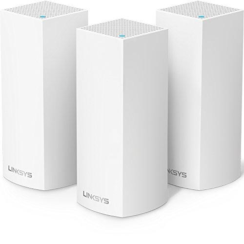 史低价!Linksys Velop 三频WiFi路由器/无线扩展器,3只装