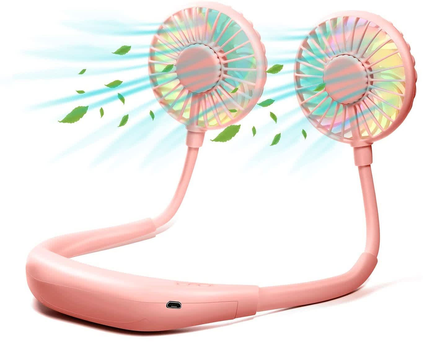 Kick LED Wearable Mini Neck Fan with Aromatherapy