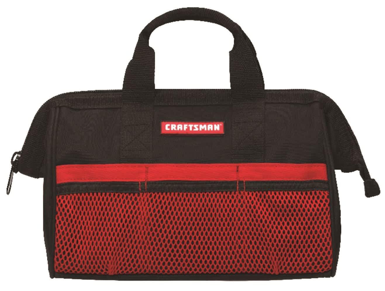 """Craftsman 6-Pocket 13"""" Wide Mouth Tool Bag"""