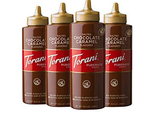 4-Pack of 16.5oz Torani Puremade Salted Chocolate Caramel Sauce