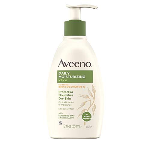 史低价!Aveeno 保湿 防晒 身体乳,12 oz