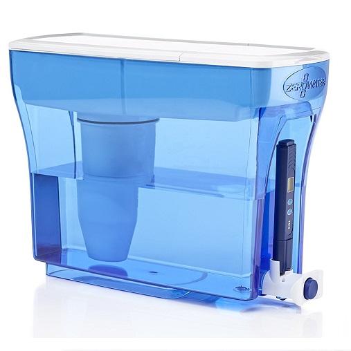史低价!ZeroWater 零水 ZD-018 5级双离子超强净化家用滤水壶,23杯量容量