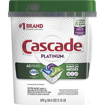 62-Count Cascade Platinum Dishwasher Detergent ActionPacs