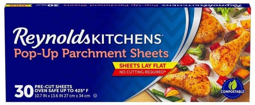 "30-Count Reynolds Kitchens Pop-Up Parchment Paper Sheets (10.7""x13.6"")"