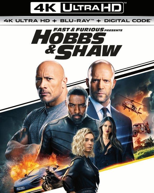 4K UHD + Blu-ray + Digital Movies: Fast & Furious Presents: Hobbs & Shaw