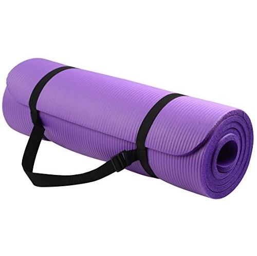 宅家健身不能停!BalanceFrom GoYoga高级1/2英寸高密度防磨瑜伽垫