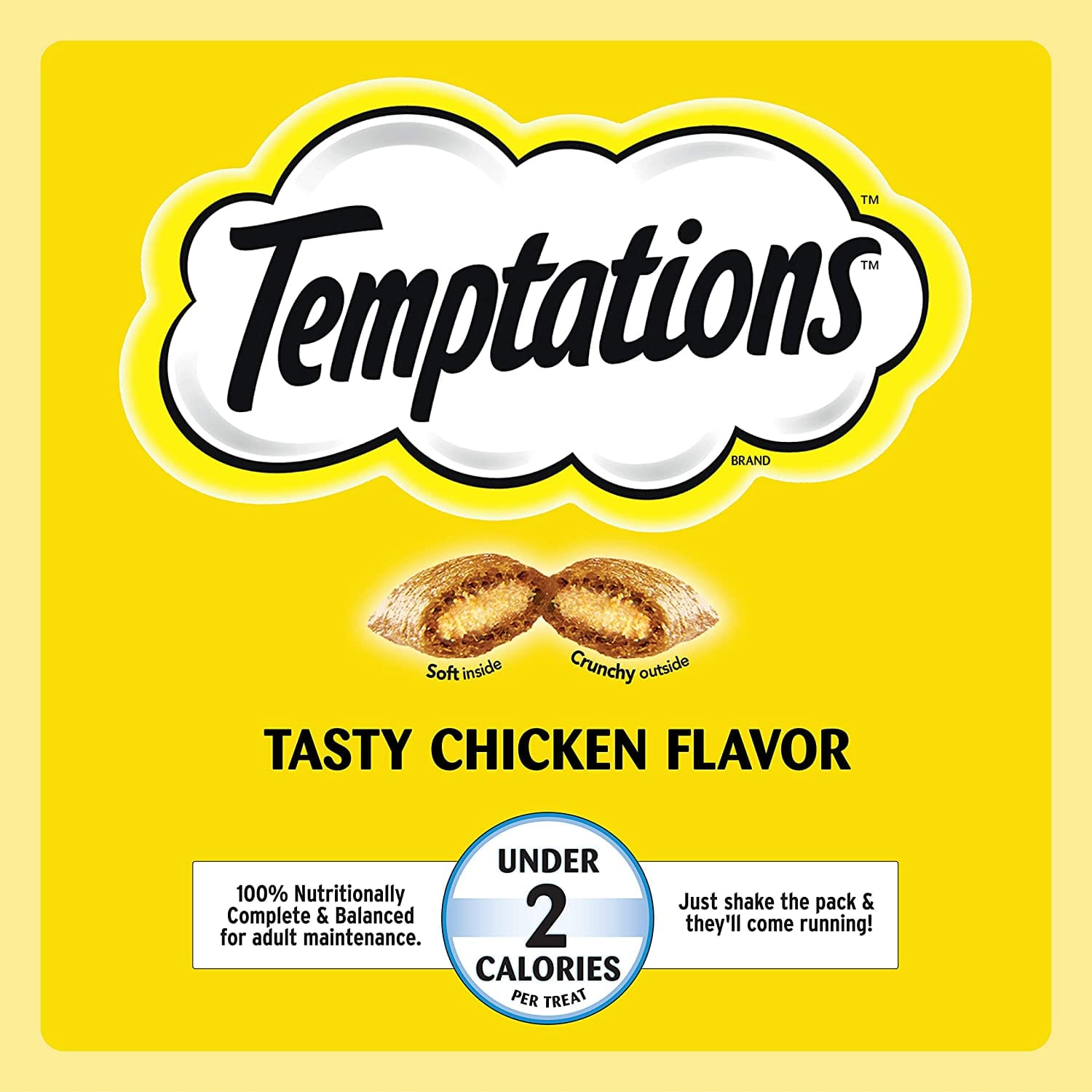 14oz Temptations Jumbo Stuff Crunchy and Soft Cat Treats (Tasty Chicken Flavor)