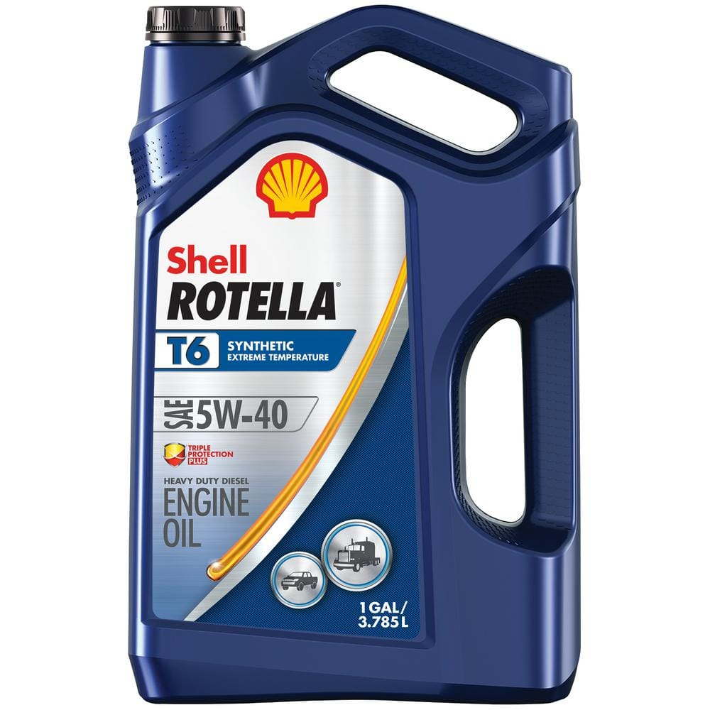 1-Gallon Shell Rotella T6 5W-40 Full Synthetic Diesel Engine Oil