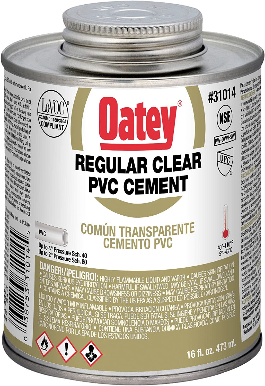 Oatey PVC Regular Cement 16-oz. Jar