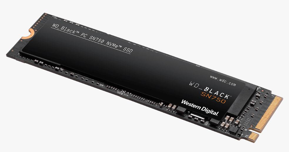 2TB WD Black SN750 NVMe PCIe Internal Solid State Drive