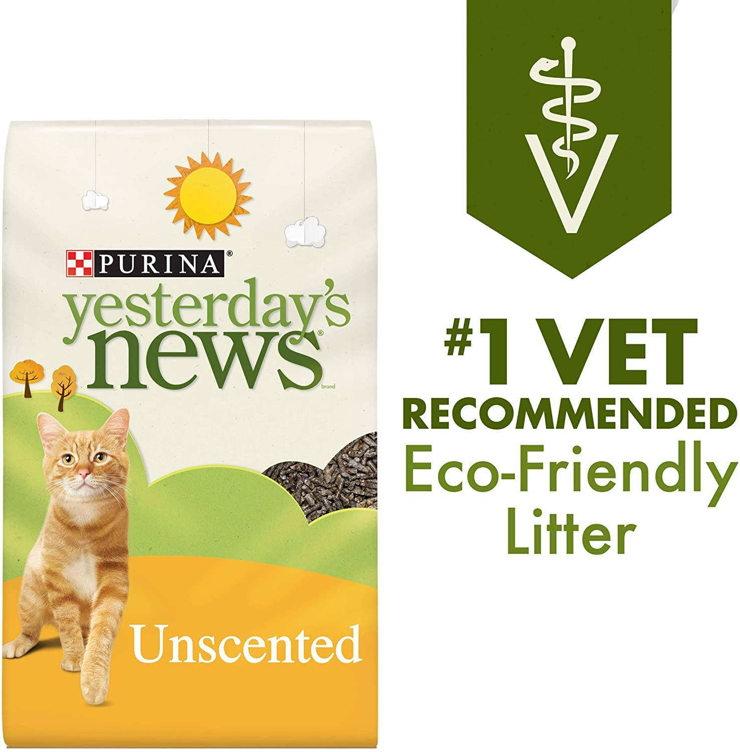 Select Amazon Accounts: 30-Lbs Purina Yesterday's News Unscented Paper Cat Litter
