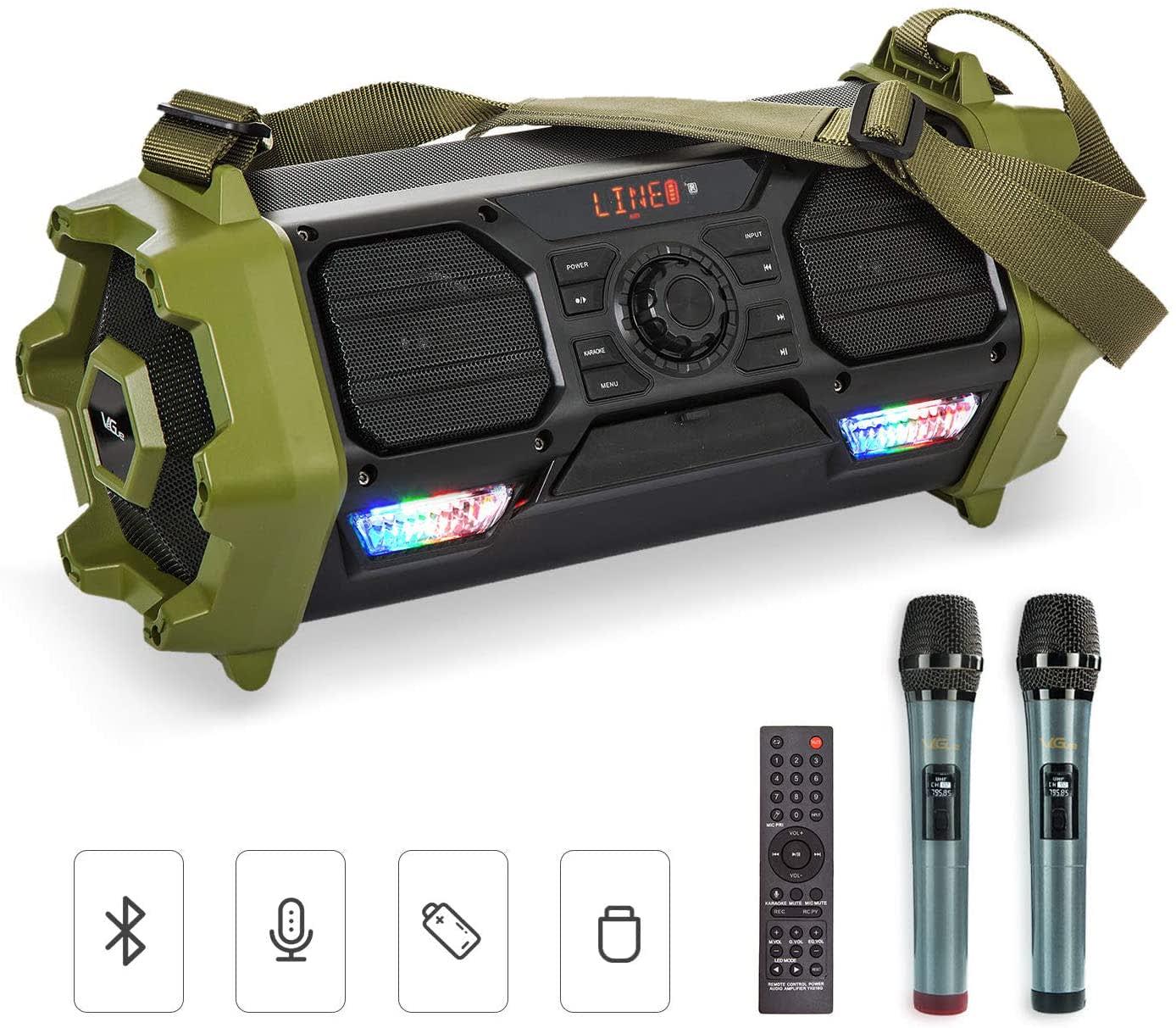 VeGue Bluetooth Wireless Karaoke Machine