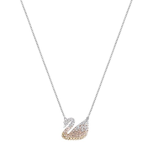 SWAROVSKI Women's Iconic Swan Pendant, Multi-colored, Rhodium plated
