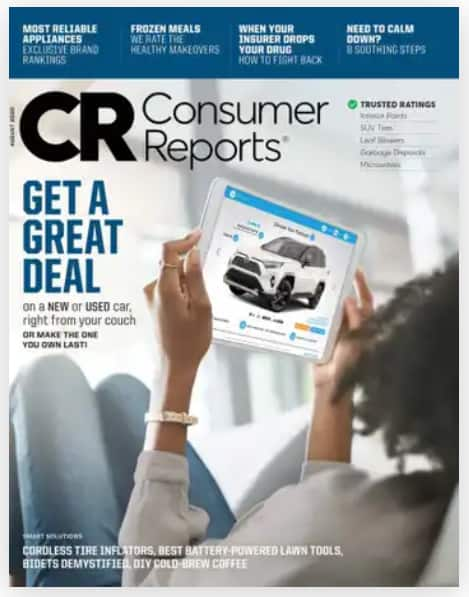 Magazines: Smithsonian $7.75/yr, Consumer Reports