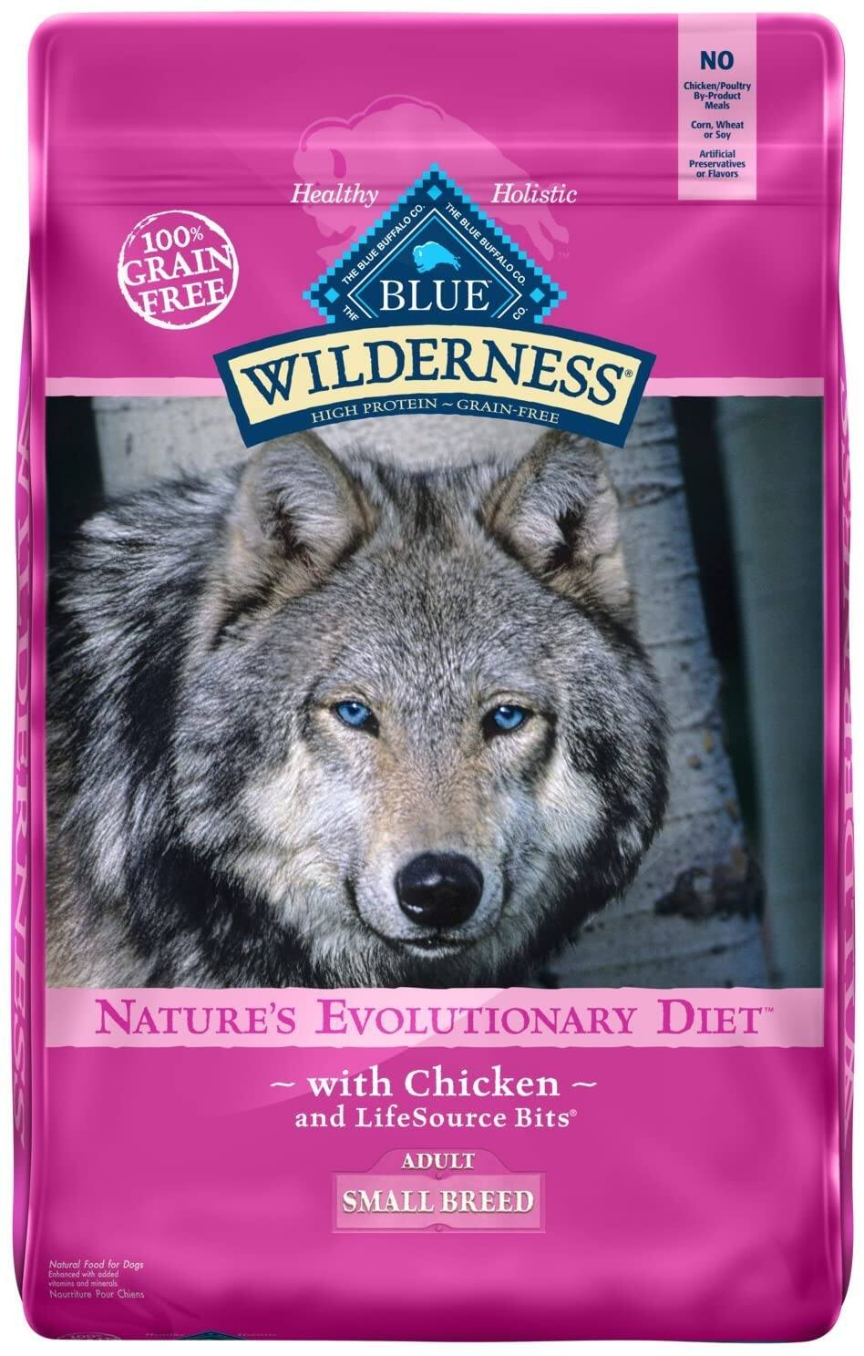 11-Lbs Blue Buffalo Wilderness High Protein Adult Small Breed Dry Dog Food