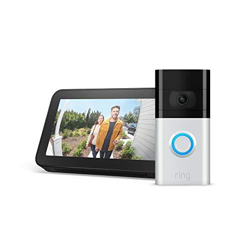 史低价!最新款Ring Video Doorbell 3 智能门铃+Echo Show 5