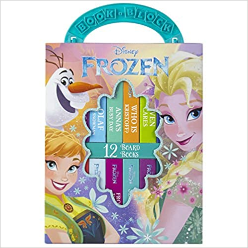 史低价!速抢!Disney - Frozen My First Library Board Book Block 翻翻书 12本套装