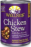 12-Count Wellness Thick & Chunky Natural Wet Grain Free Chicken Stew Canned Dog Food