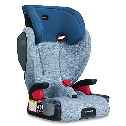 Britax Highpoint Highback Belt-Positioning Booster Car Seat | 3 Layer Impact Protection - 40 to 120 Pounds, Seaglass