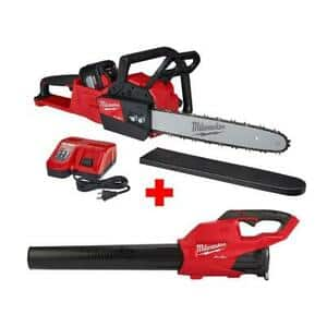 "Milwaukee 2727-21HDP 18V M18 FUEL Cordless 16"" Chainsaw & Blower Tool Kit"