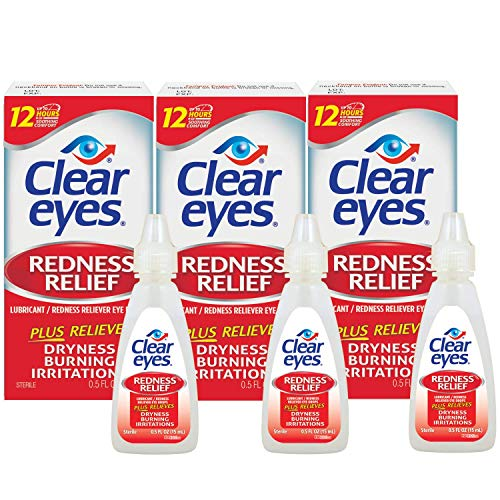 史低价!Clear Eyes 去发炎红眼眼药水,15ml/瓶,共 3瓶